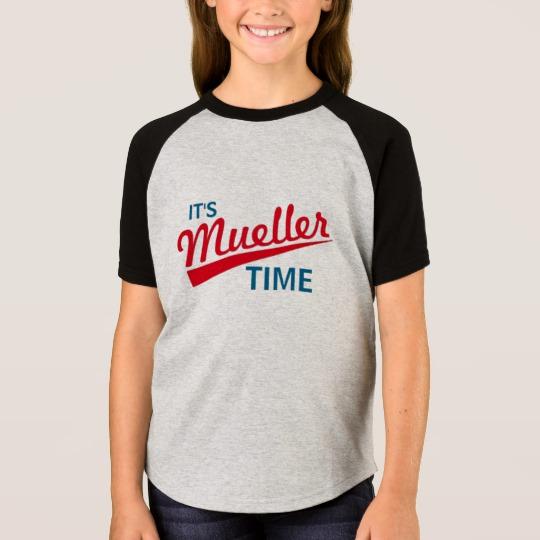 It's Mueller Time Girls' Short Sleeve Raglan T-Shirt