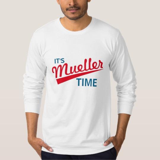 It's Mueller Time Men's American Apparel Fine Jersey Long Sleeve T-Shirt