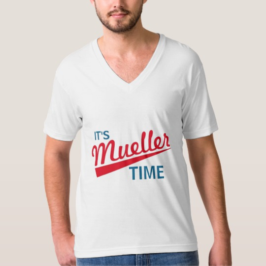 It's Mueller Time Men's American Apparel Fine Jersey V-neck T-Shirt