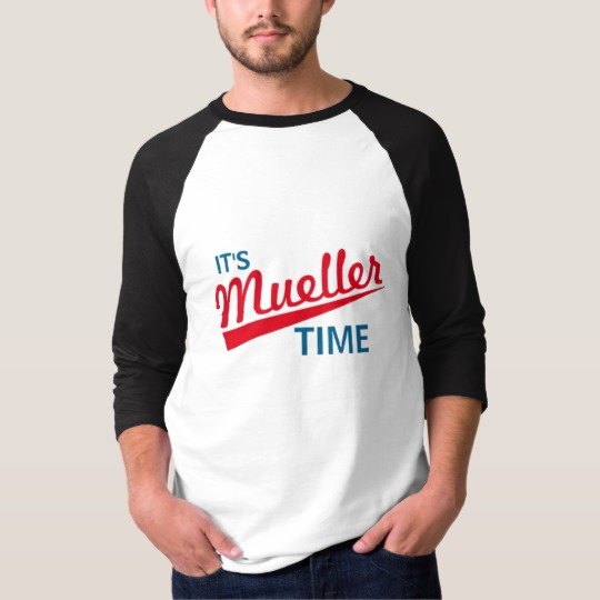 It's Mueller Time Men's Basic 3/4 Sleeve Raglan T-Shirt