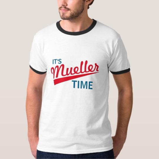 It's Mueller Time Men's Basic Ringer T-Shirt