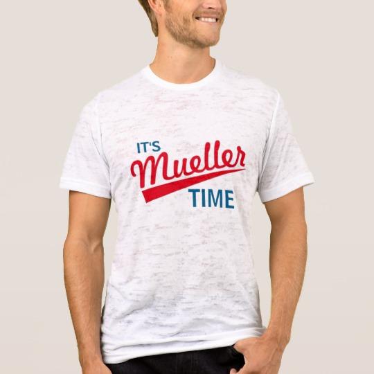 It's Mueller Time Men's Canvas Fitted Burnout T-Shirt