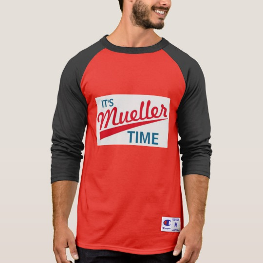 It's Mueller Time Men's Champion 3/4 Sleeve Raglan T-Shirt