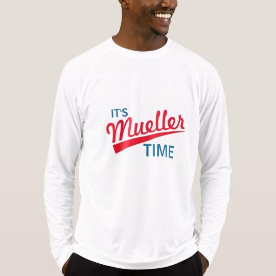 It's Mueller Time Men's Sport-Tek Fitted Performance Long Sleeve T-Shirt