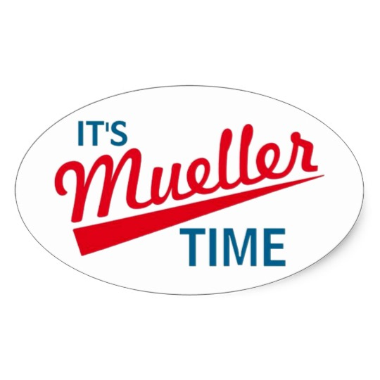 It's Mueller Time Oval Stickers