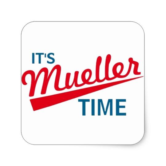 It's Mueller Time Square Sticker