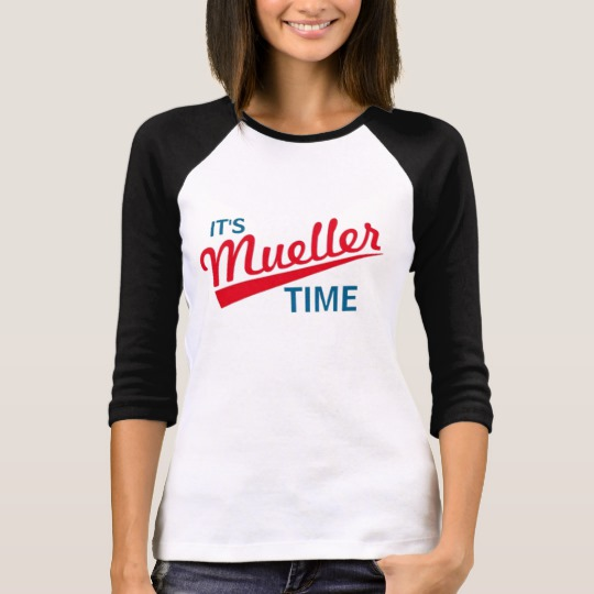It's Mueller Time Women's Bella+Canvas 3/4 Sleeve Raglan T-Shirt