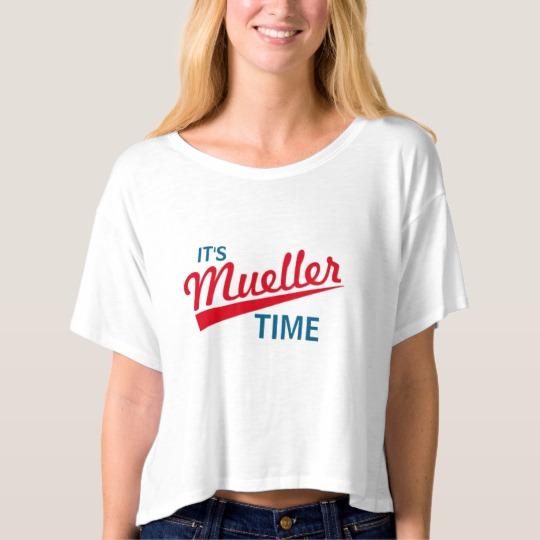 It's Mueller Time Women's Bella+Canvas Boxy Crop Top T-Shirt
