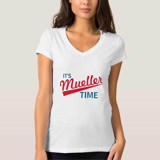 It's Mueller Time Women's Bella+Canvas Jersey V-Neck T-Shirt