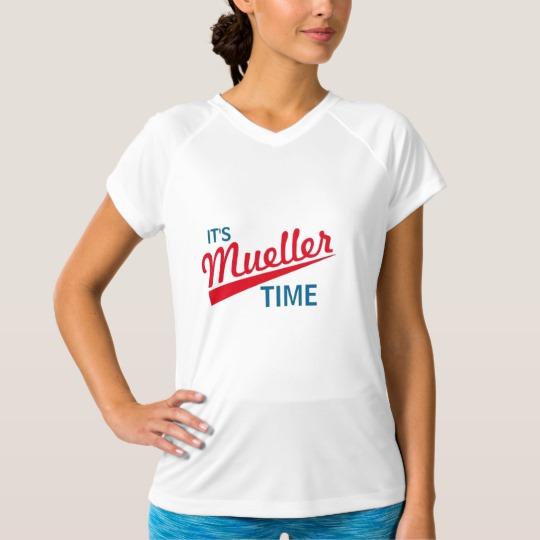 It's Mueller Time Women's Champion Double-Dry V-Neck T-Shirt