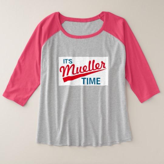 It's Mueller Time Women's Plus-Size 3/4 Sleeve Raglan T-Shirt