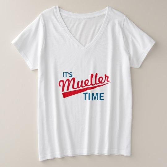 It's Mueller Time Women's Plus-Size V-Neck T-Shirt