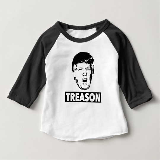 Trump Treason Baby American Apparel 3/4 Sleeve Raglan T-Shirt