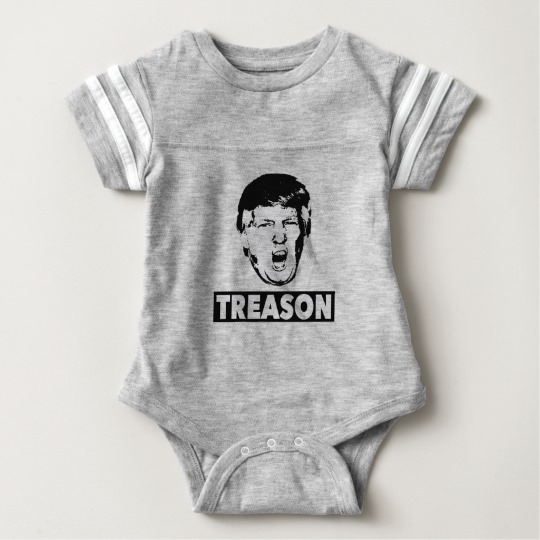 Trump Treason Baby Football Bodysuit
