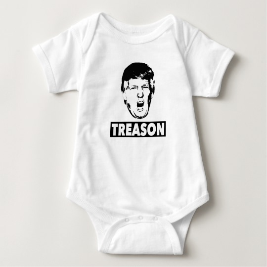 Trump Treason Baby Jersey Bodysuit