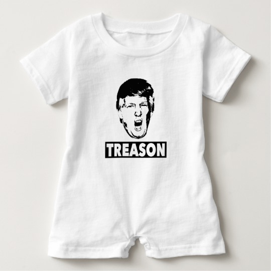 Trump Treason Baby Romper