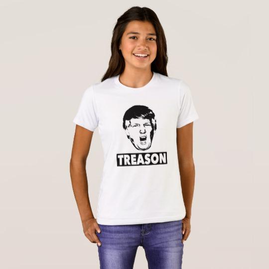 Trump Treason Girls' Bella+Canvas Crew T-Shirt