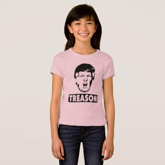 Trump Treason Girls' Bella+Canvas Fitted Babydoll T-Shirt