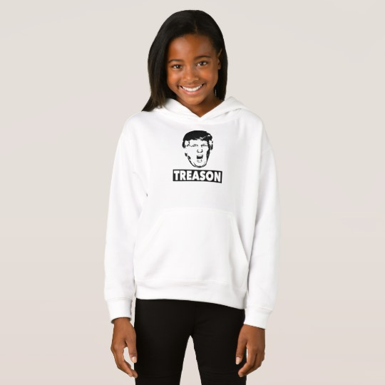 Trump Treason Girls' Fleece Pullover Hoodie