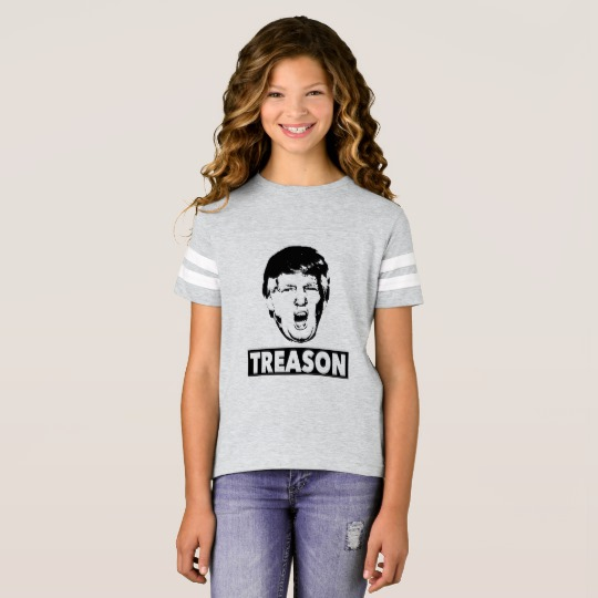 Trump Treason Girls' Football Shirt