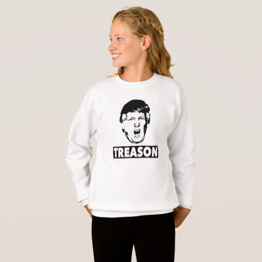 Trump Treason Girls' Hanes ComfortBlend® Sweatshirt