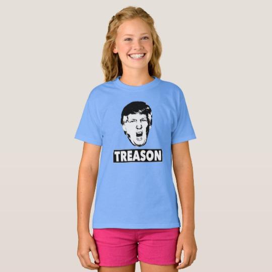 Trump Treason Girls' Hanes TAGLESS® T-Shirt