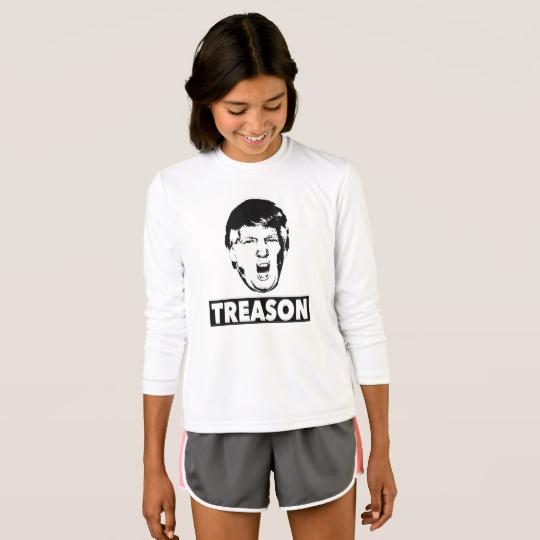 Trump Treason Girls' Sport-Tek Competitor Long Sleeve T-Shirt