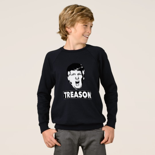 Trump Treason Kids' American Apparel Raglan Sweatshirt