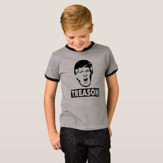 Trump Treason Kids' Basic Ringer T-Shirt