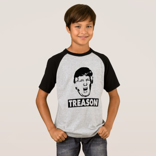 Trump Treason Kids' Short Sleeve Raglan T-Shirt