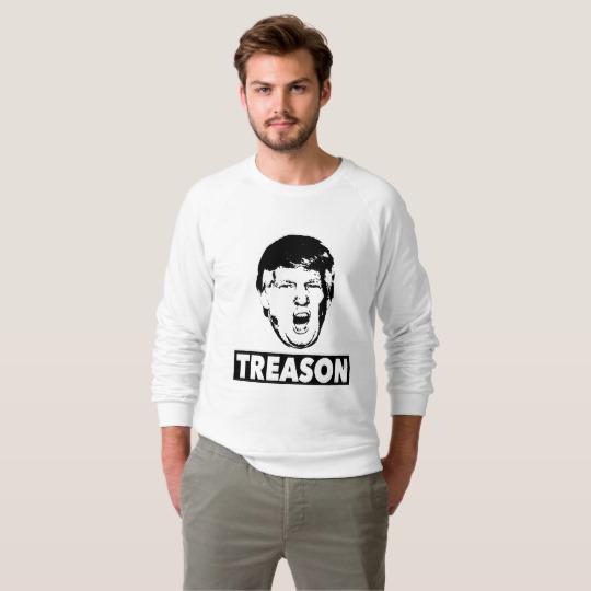 Trump Treason Men's American Apparel Raglan Sweatshirt