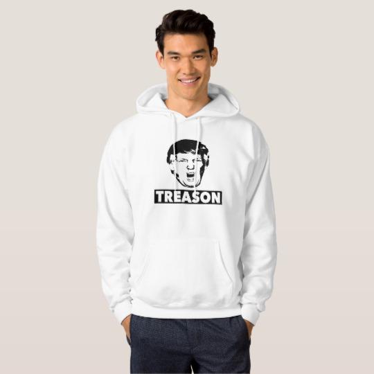 Trump Treason Men's Basic Hooded Sweatshirt