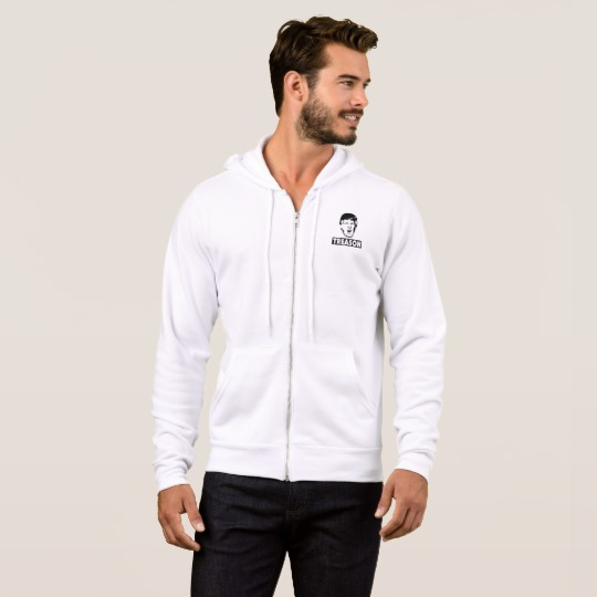 Trump Treason Men's Bella+Canvas Full-Zip Hoodie