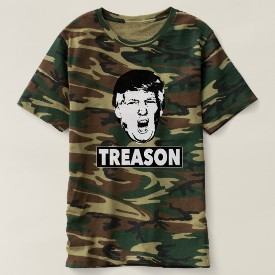 Trump Treason Men's Camouflage T-Shirt