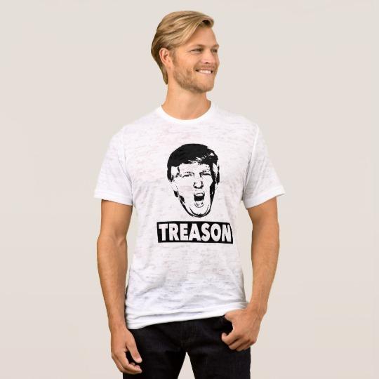 Trump Treason Men's Canvas Fitted Burnout T-Shirt