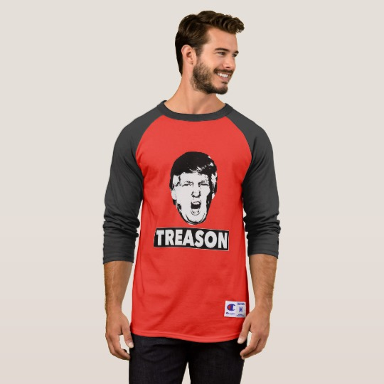 Trump Treason Men's Champion 3/4 Sleeve Raglan T-Shirt