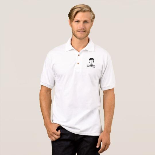 Trump Treason Men's Gildan Jersey Polo Shirt