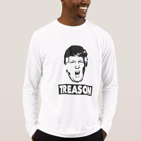 Trump Treason Men's Sport-Tek Fitted Performance Long Sleeve T-Shirt