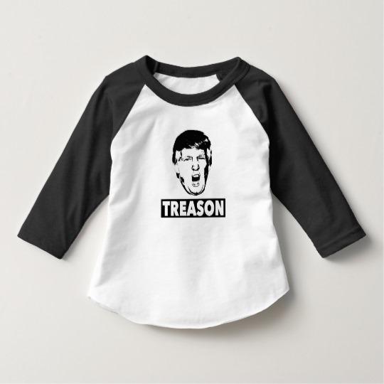 Trump Treason Toddler American Apparel 3/4 Sleeve Raglan T-Shirt