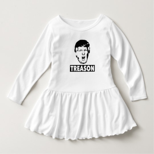 Trump Treason Toddler Ruffle Dress