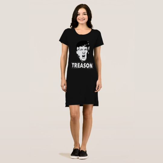 Trump Treason Women's Alternative Apparel T-Shirt Dress