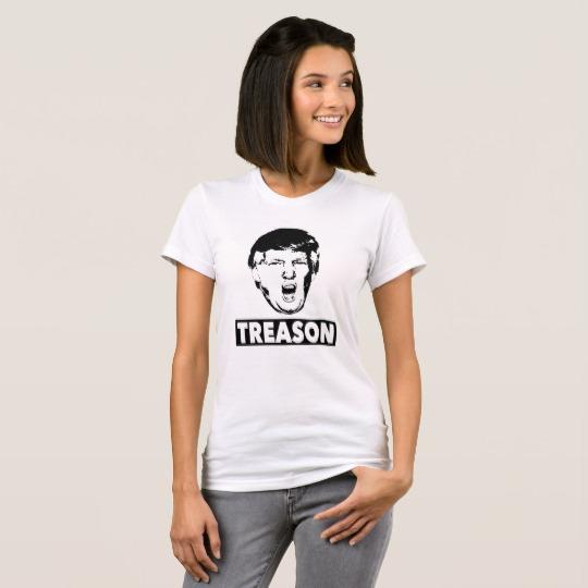 Trump Treason Women's American Apparel Fine Jersey T-Shirt