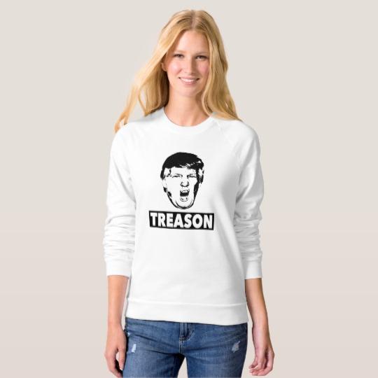 Trump Treason Women's American Apparel Raglan Sweatshirt
