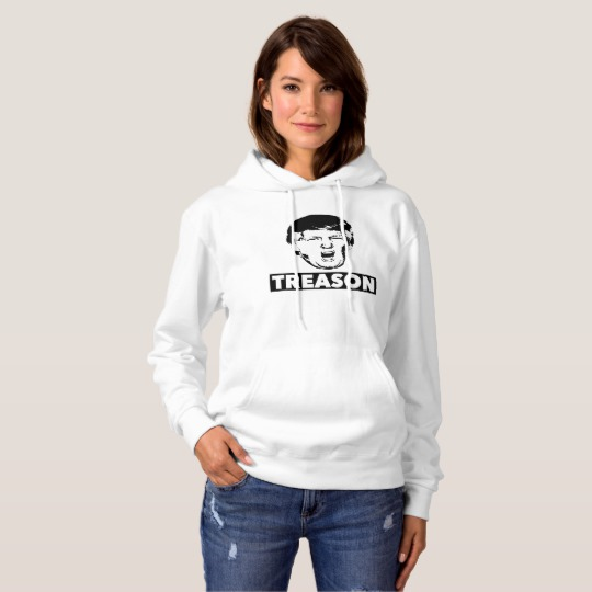 Trump Treason Women's Basic Hooded Sweatshirt
