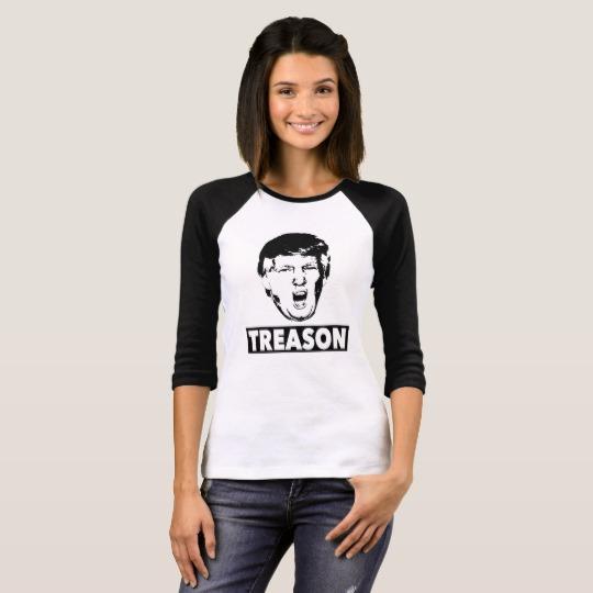 Trump Treason Women's Bella+Canvas 3/4 Sleeve Raglan T-Shirt