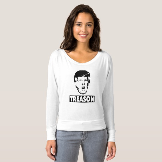 Trump Treason Women's Bella+Canvas Flowy Off Shoulder Shirt