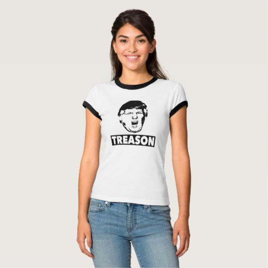 Trump Treason Women's Bella+Canvas Ringer T-Shirt