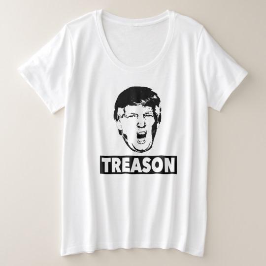 Trump Treason Women's Plus-Size Basic T-Shirt