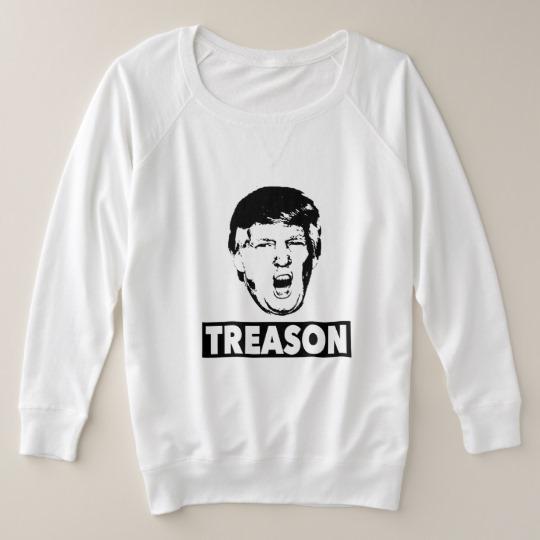 Trump Treason Women's Plus-Size French Terry Sweatshirt