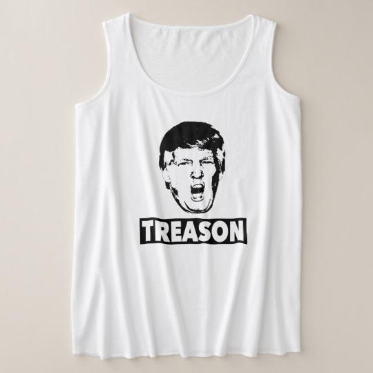 Trump Treason Women's Plus-Size Tank Top
